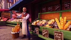 Burial at Sea Episode 2 Paris Scripted Events bread vendor