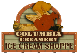 Columbia Creamery Sign