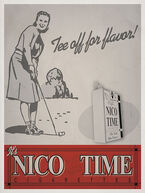 "Nico-Time ""Tee off for flavor"" Advertisement"