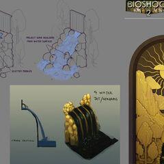 <i>Diseño conceptual de obras sobre escultura de cascadas.</i>