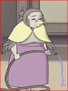 Old woman bird