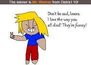 Mr. Warner's Victory Pose