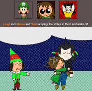 Luigi Likes Bruce and Sam