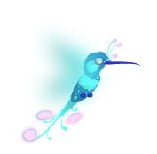 Colibri magico azul