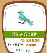 Blue spirit en la tienda