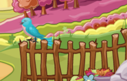 El blue spirit en la cerca