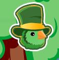 La cara de un St. Patrick's Bird