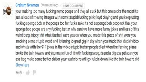 THE GREATEST COMMENT I'VE HAD THIS YEAR