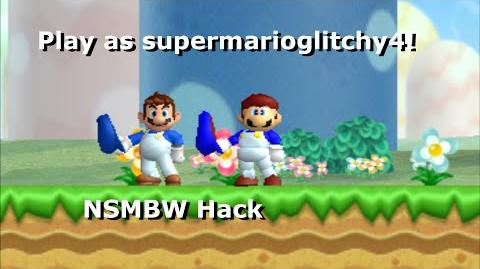 Play as supermarioglitchy4 in NSMBW! NSMBW Hack + Download