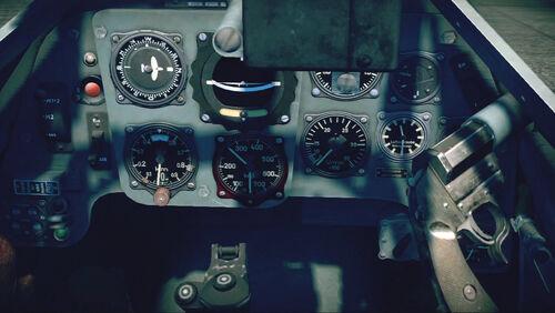 Bf109G10 cokpit up