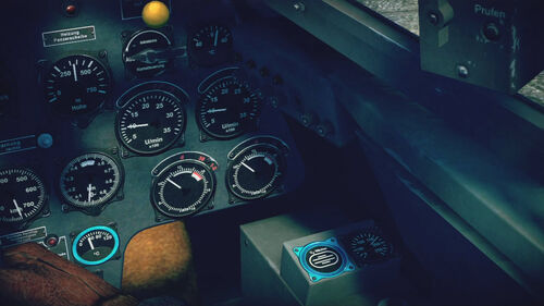 Bf110C4 cokpit right