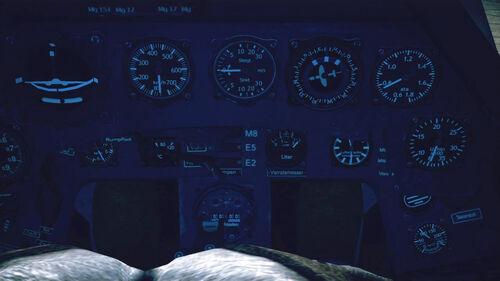 Fw190A5 cokpit up