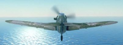 Bf109G6 back