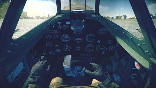 SpitfireMkXVI cokpit default