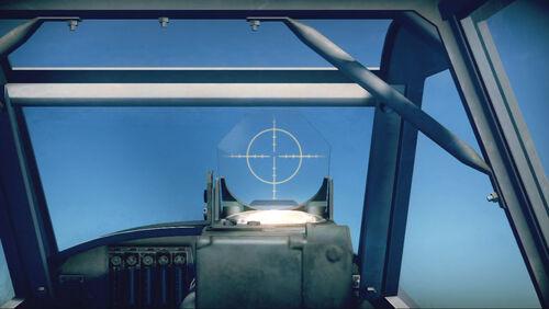 Bf109G6 cokpit sight