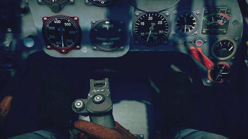 Bf109F4Tp cokpit up