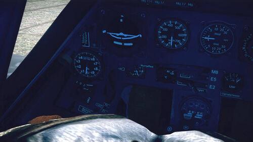 Fw190A5 cokpit left