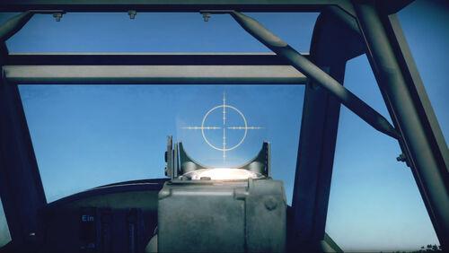 Bf109K4 cokpit sight