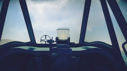 A6M2N cokpit sight