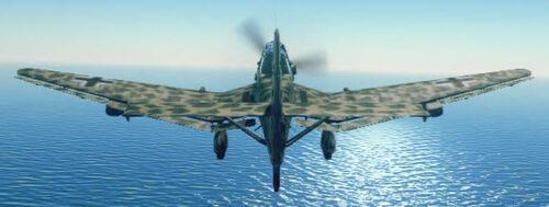 Ju87D back