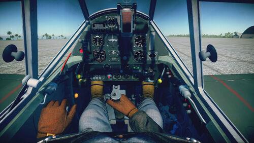 Bf109E3 cokpit default