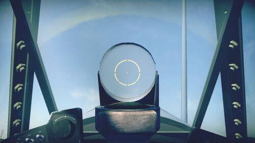 F4U1a cokpit sight