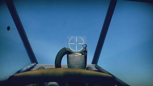 Ju87B2 cokpit sight