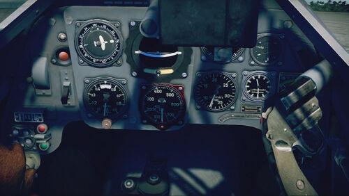 Bf109G6 cokpit up