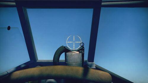 Ju87D3 cokpit sight