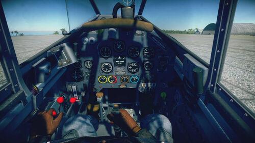 Ju87D cokpit default