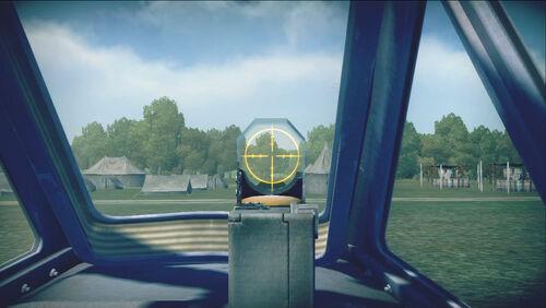 Me262A1a cokpit sight