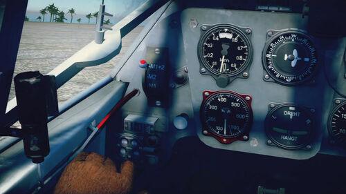 Bf109F4 cokpit left