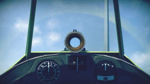 F2A3 cokpit sight