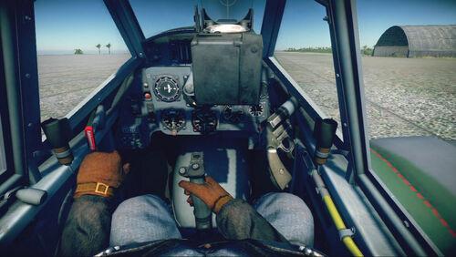 Bf109G10 cokpit default