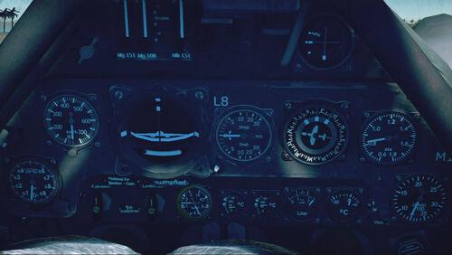 Fw190D12 cokpit up