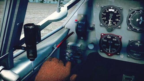 Bf109F4Tp cokpit left