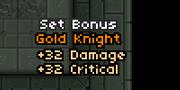 Gold set bonus
