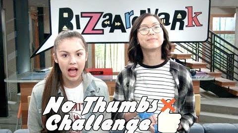 No Thumbs Challenge 👍 Bizaardvark Shorts Disney Channel