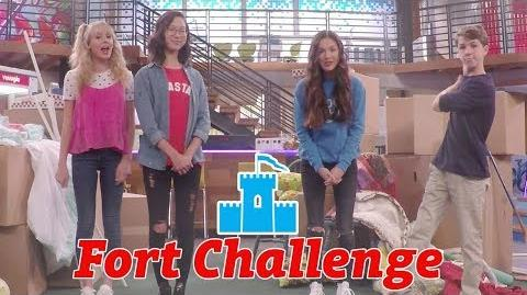 Fort Challenge ⛺️ Bizaardvark Disney Channel