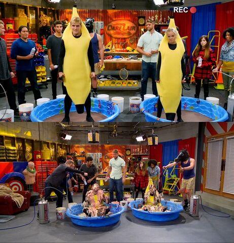 File:Dirk & Pam's Banana Split Dare; Before and During.jpg