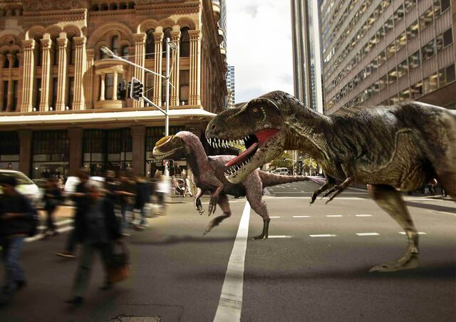 File:Dinosaurs in Sydney, Australia.jpg