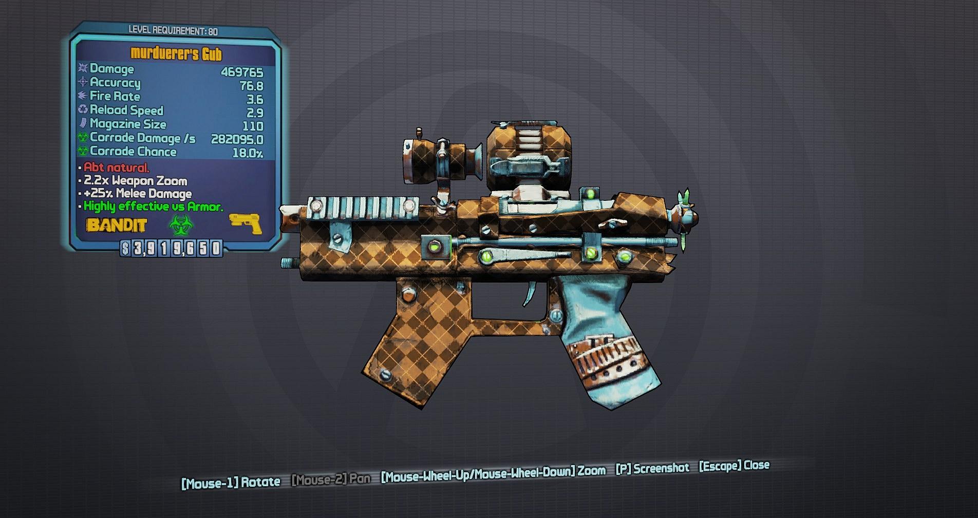 Gub legendary weapon playborderlands