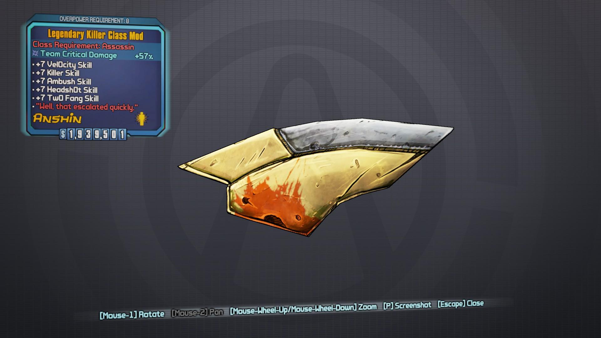 Legendary Killer | BL2reborn Wiki | FANDOM powered by Wikia