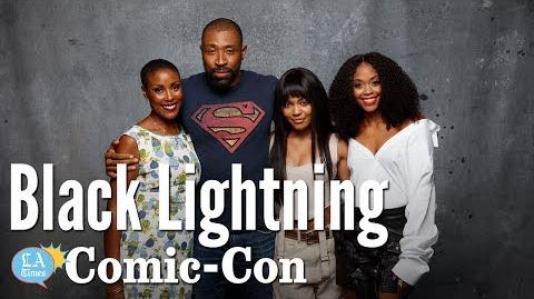 The Cast of Black Lightning chats with Sarah Rodman at Comic-Con Los Angeles Times