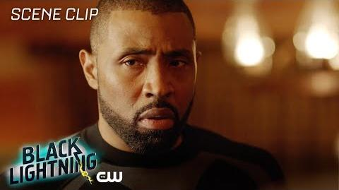 Black Lightning Shadow of Death The Book of War Scene The CW