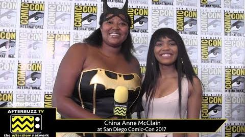 China Anne McClain (Black Lightning) at San Diego Comic-Con 2017