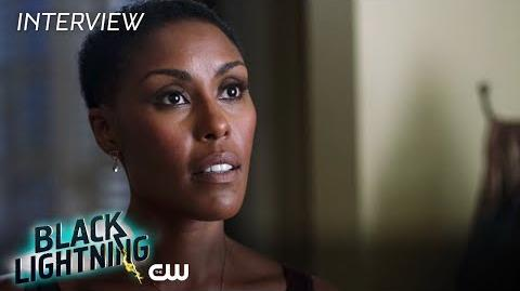 "Black Lightning Christine Adams ""Lynn Pierce"" Interview The CW"