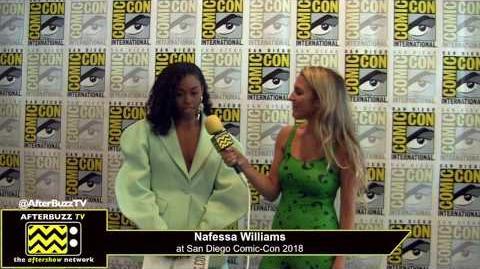 Nafessa Williams (Black Lightning) San Diego Comic-Con 2018