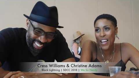 WSN INTERVIEWS Cress Williams & Christine Adams at SDCC 2018