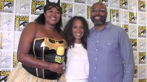 Salim Akil and Mara Brock Akil (Black Lightning) at San Diego Comic-Con 2017